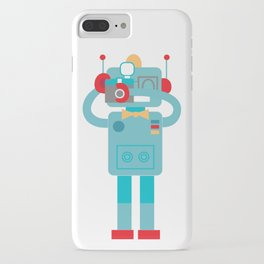 Robot loves Diana iPhone Case