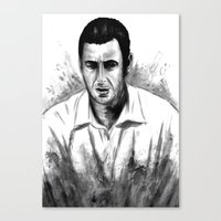 snl Canvas Prints featuring DARK COMEDIANS: Adam Sandler by Zombie Rust