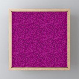 Pink-On-Pink Zebra Stripes Framed Mini Art Print
