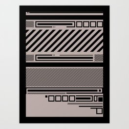 Linear Connection Art Print