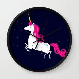 Space unicorn Wall Clock