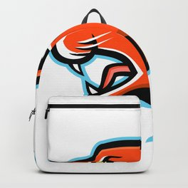 Caracal Head Side Mascot Backpack