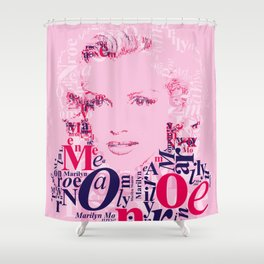 Typographic image Monroe Shower Curtain