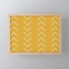 V / Yellow Framed Mini Art Print