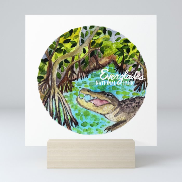 Everglades National Park Watercolor Mini Art Print