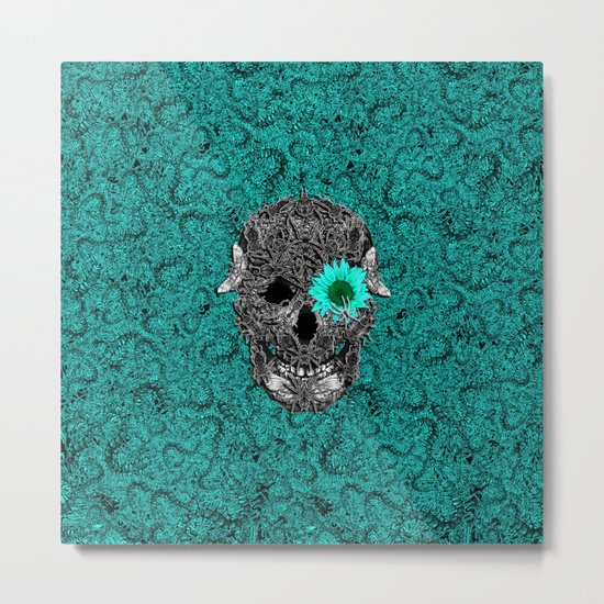 Insect Skull Metal Print