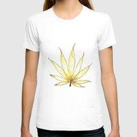 cannabis T-shirts featuring Golden Cannabis by  Can Encin
