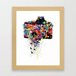 Paint DSLR Framed Art Print