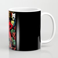 obey Mugs featuring OBEY! by sasha alexandre keen