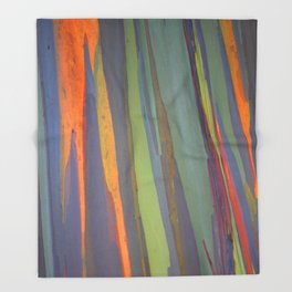 Rainbow Eucalyptus Magic Throw Blanket