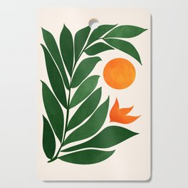 Tropical Forest Sunset / Mid Century Abstract Shapes Cutting Board