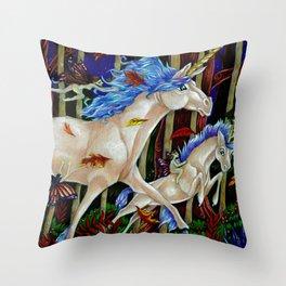 A Romp in the Autumn Dusk Throw Pillow
