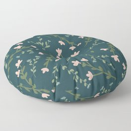 Moody Floral Pattern Floor Pillow
