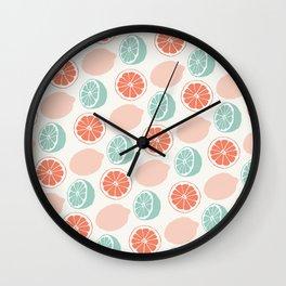 Mint lemonade Wall Clock