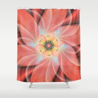 cherry blossom Shower Curtains featuring Cherry Blossom by Christine baessler