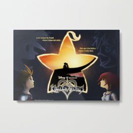 Kingdom Hearts - Fated Together Metal Print