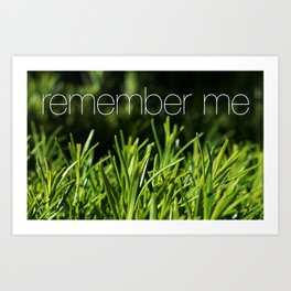 Rosemary for remembrance Art Print