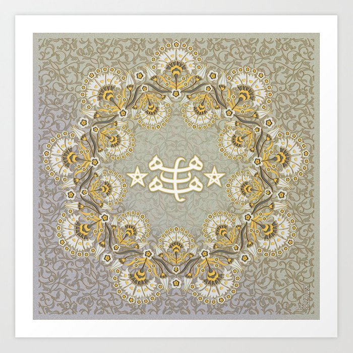 Bahai Ring Stone Symbol Pastels Art Print By Joepaczkowski Society6