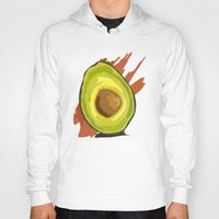 avocado Hoodies featuring avocado by P.A. Yingling