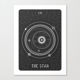 Minimal Tarot  Deck The Star Canvas Print