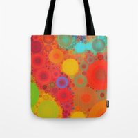 circles Tote Bags featuring Circles by Mr and Mrs Quirynen