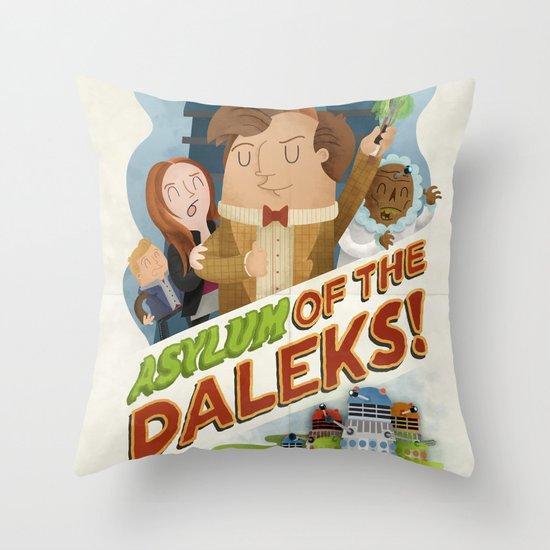 Doctor Who - Asylum of The Daleks!  Throw Pillow