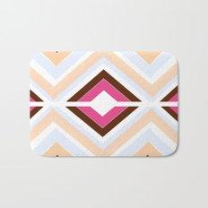 Mod stripes in raspberry Bath Mat