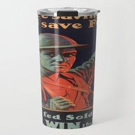 Vintage poster - Food Rationing Travel Mug