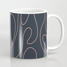 Peach Curves Blue Coffee Mug