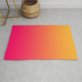 Hot Pink / Golden Heart Gradient Colors Rug