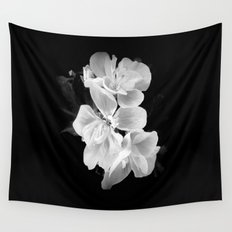 geranium in bw Wall Tapestry