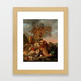 Shells and Marine Plants, Henricus Franciscus Wiertz Framed Art Print