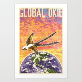 Global Okie 'Flycatcher' Poster Art Print