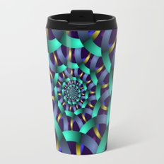 The turquoise spiral Travel Mug