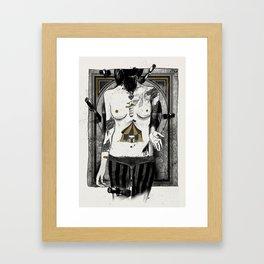 Target girl Framed Art Print