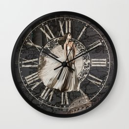 Roman-Inspired Fashion, Map, Time and Architectural Design Wall Clock