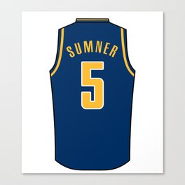 Edmond Sumner Jersey Canvas Print
