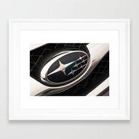 subaru Framed Art Prints featuring Subaru Logo by SShaw Photographic