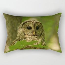 Beautiful Barred Owl Mother Rectangular Pillow