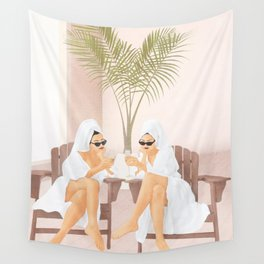 Morning with a friend III Wall Tapestry