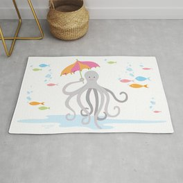 Sweet octopus with a Parasol Rug