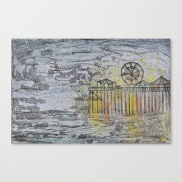 Salt Water Taffy on the Pier Canvas Print