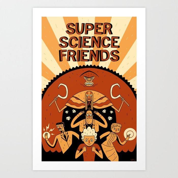 Super Science Friends Kickstarter Poster Art Print