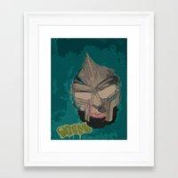 mf doom Framed Art Prints featuring MF DOOM by Rashida Chavis