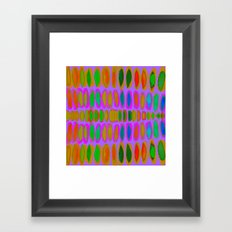 purple color pod Framed Art Print