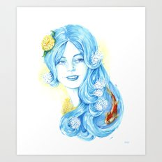 Lady Water / Dame Eau Art Print