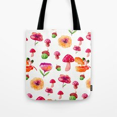 Botanical garden - watercolor Tote Bag