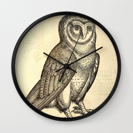 Antique Barn Owl Wall Clock