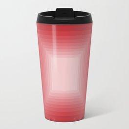 Red Square Gradient Travel Mug