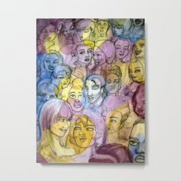 Herror Crowds Metal Print